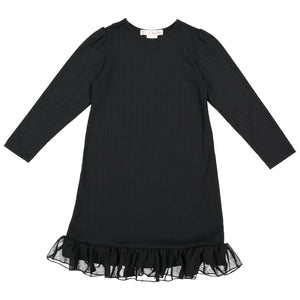 RIB Nightgown - Black - FINAL SALE