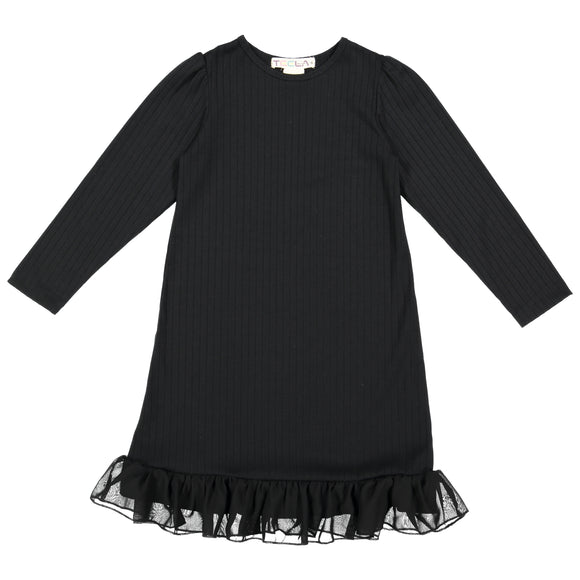 RIB Nightgown - Black