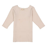 RIB Basic GIRL Tshirt - Cream