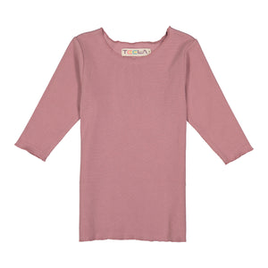RIB Basic GIRL Tshirt - Mauve