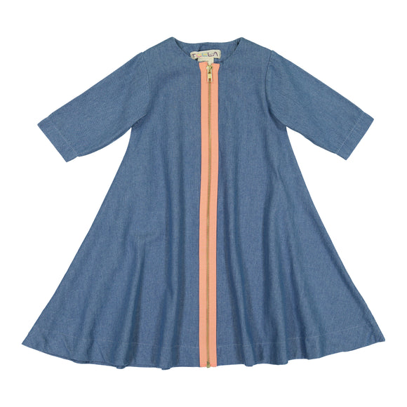DENIM ZIPPER Swing Dress - FINAL SALE