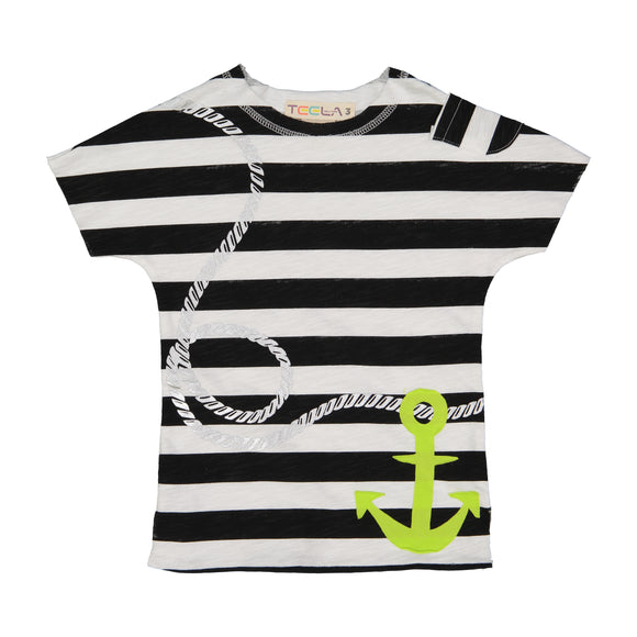 Black and White Anchor Print Tee