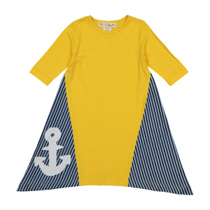ASSYMETRICAL DIAMOND Anchor Dress - Yellow