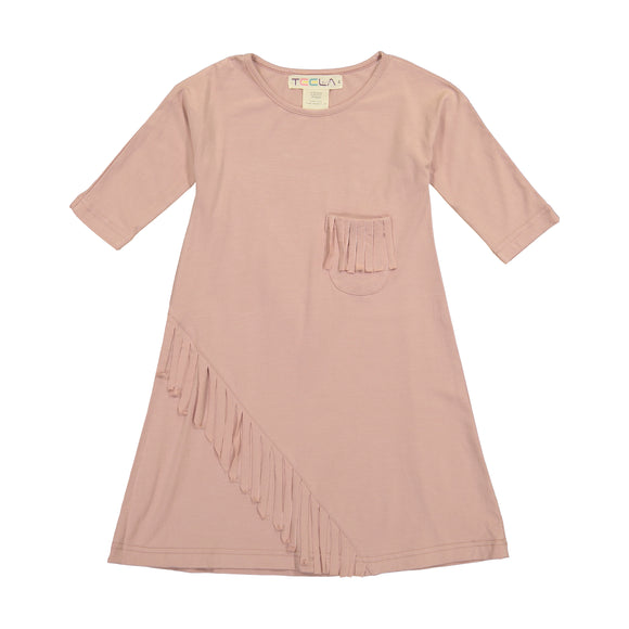 FRINGE Dress - Blush