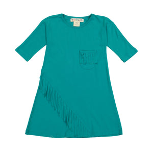 FRINGE Dress - Teal