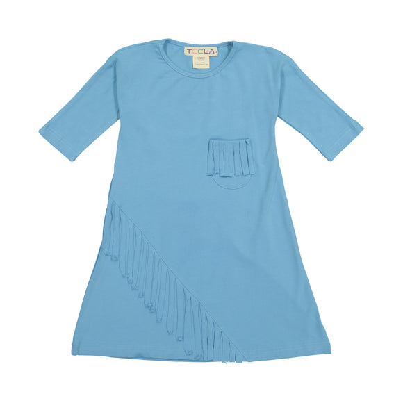 FRINGE Dress - Milky Blue