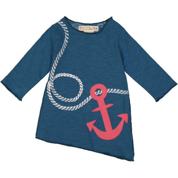Angled Anchor Blue Tee