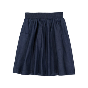 DENIM 1-Pocket Skirt - Dark Denim