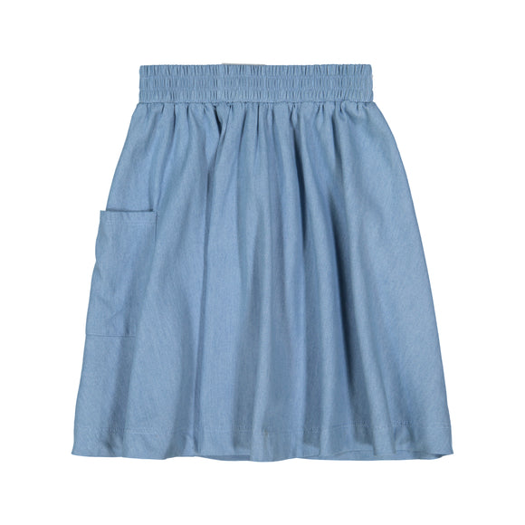DENIM 1-Pocket Skirt - Light Denim