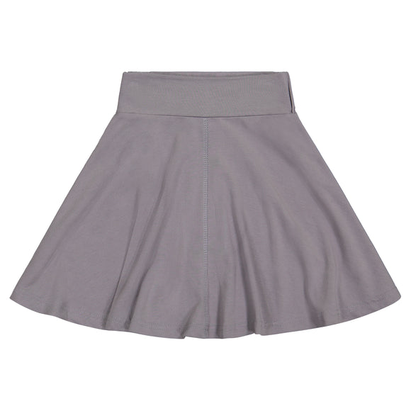 BASIC KNIT Circle Skirt - Grey