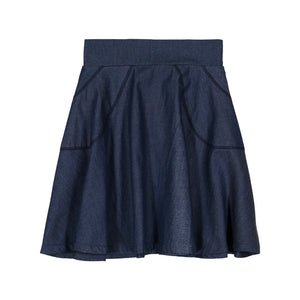 DENIM Circle Skirt - Dark Denim