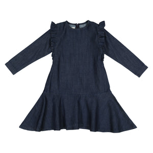 DENIM Ruffle Dress - FINAL SALE