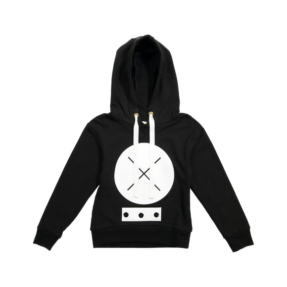 MEG X Marks the Spot Hoodie Top - Black - size up - FINAL SALE