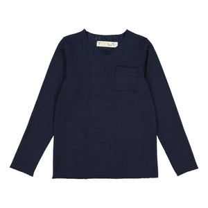 RIB Basic BOY Tshirt Navy Blue - FINAL SALE