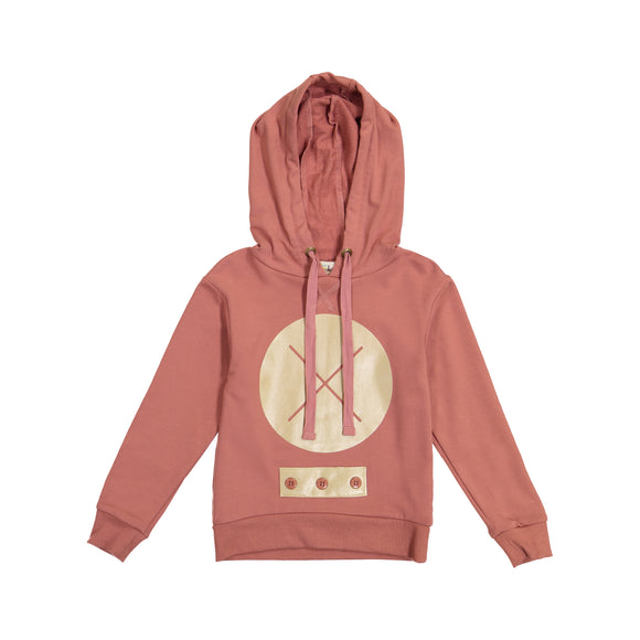 MEG X Marks the Spot Hoodie Top - Dusty Rose - size up - FINAL SALE