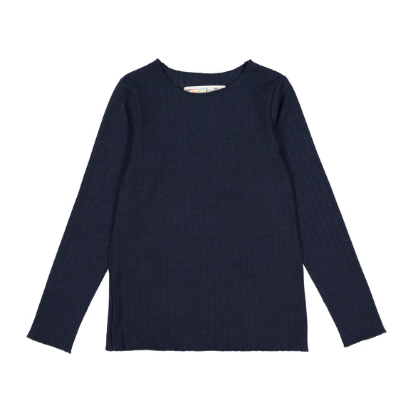 RIB Basic GIRL Tshirt Navy Blue - FINAL SALE