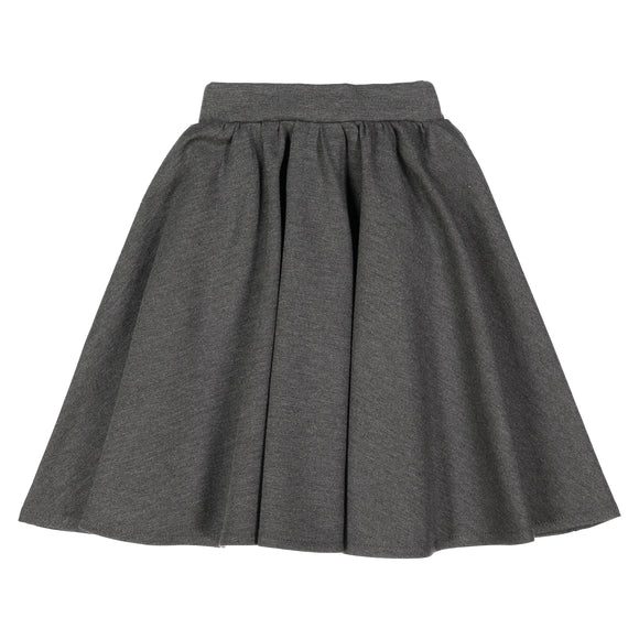 Charcoal Grey - Ponte Circle Skirt - FINAL SALE