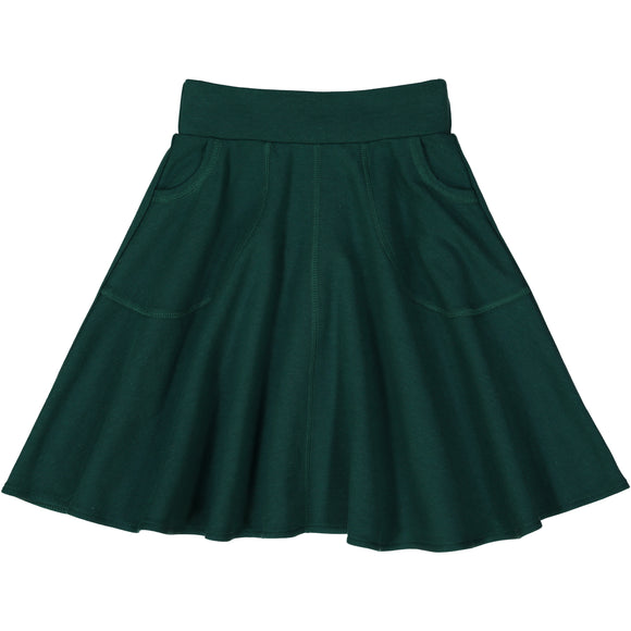 KNIT circle skirt - HUNTER GREEN
