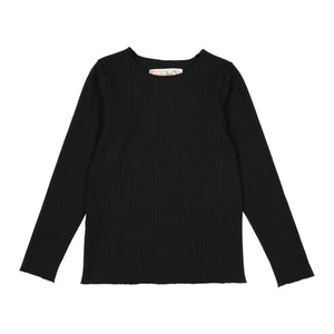 RIB Basic GIRL Tshirt Black - FINAL SALE