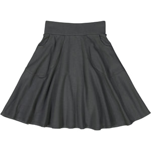 KNIT circle skirt - CHARCOAL GREY