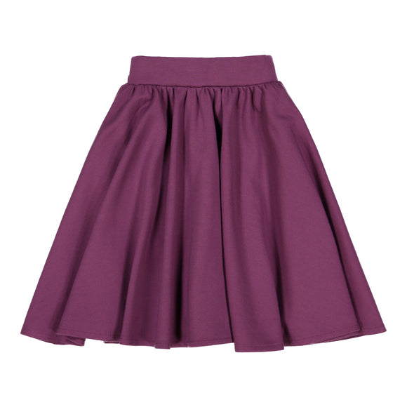 Plum - Ponte Circle Skirt - FINAL SALE