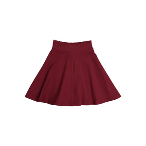 KNIT Circle Skirt - Burgundy