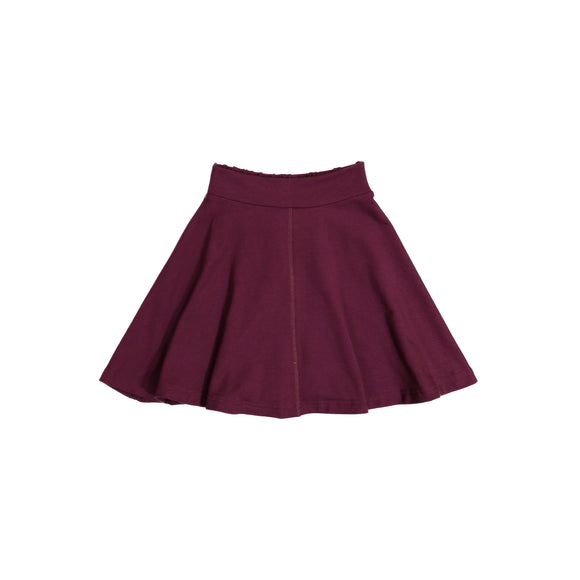 KNIT Circle Skirt - Plum