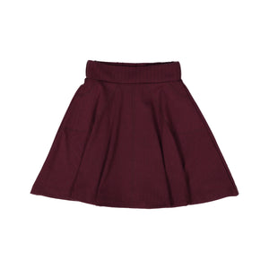 RIB Circle Skirt Grape - FINAL SALE