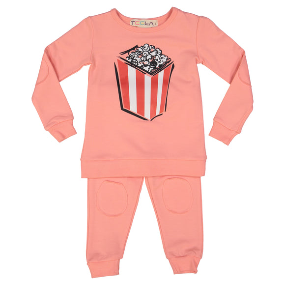 2 Piece POPCORN Loungware - Coral - FINAL SALE