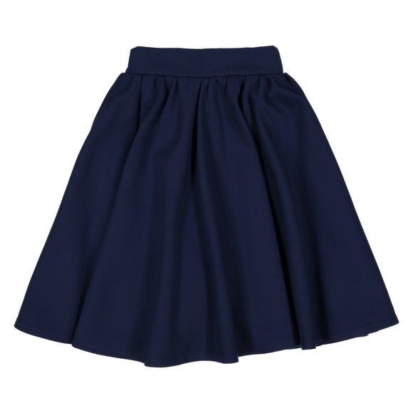 Navy - Ponte Circle Skirt - FINAL SALE