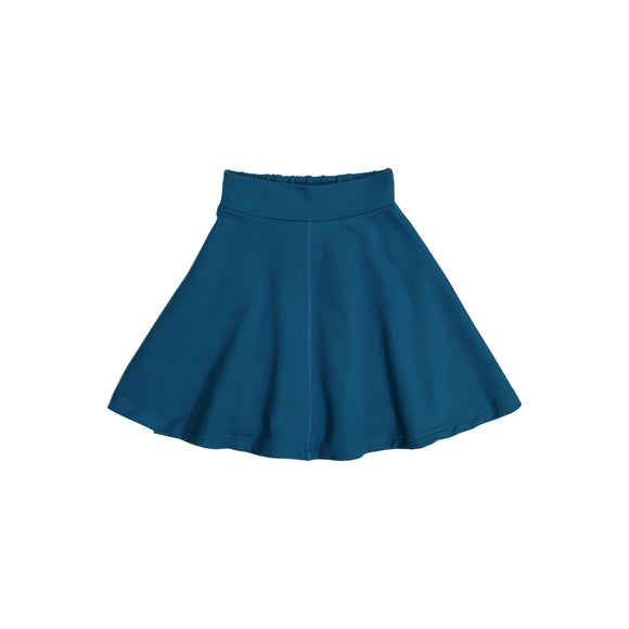 KNIT Circle Skirt - Teal Blue