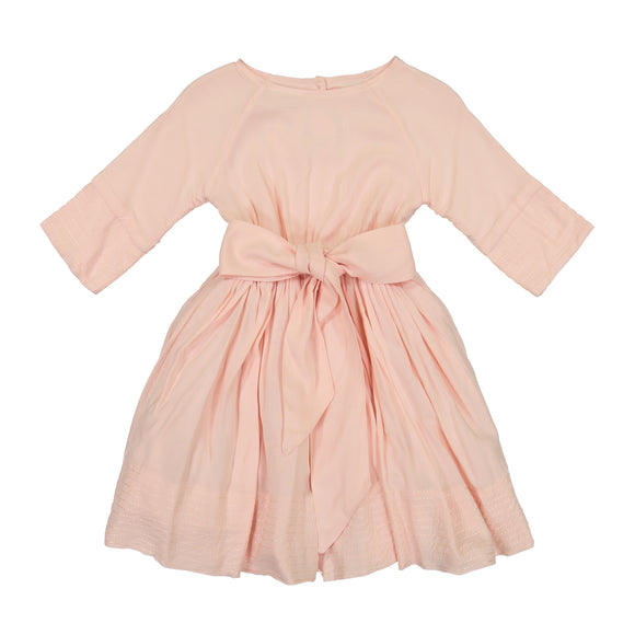 LEAH Fit and Flair Dress - Blush - FINAL SALE!