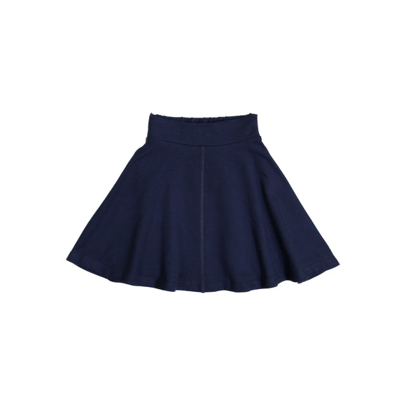 KNIT Circle Skirt - Navy