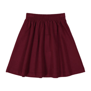 BASIC KNIT SKIRT - burgundy