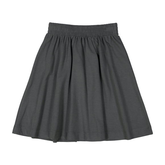 BASIC KNIT SKIRT - grey