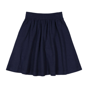 BASIC KNIT SKIRT - navy