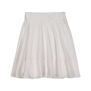 BASIC KNIT Circle Cut Solid Skirt - White