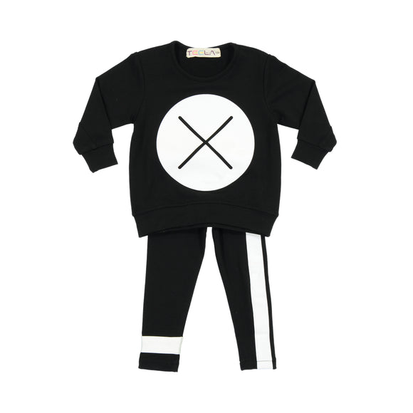 BABY X Marks the Spot Set - Black - FINAL SALE