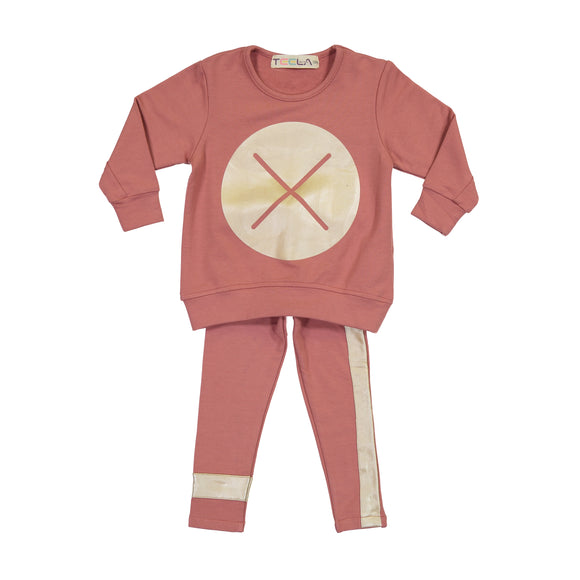 BABY X Marks the Spot Set - Dusty Rose - last piece size 3m - FINAL SALE