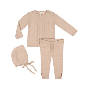 Cable Knit Set - Cashmere - FINAL SALE