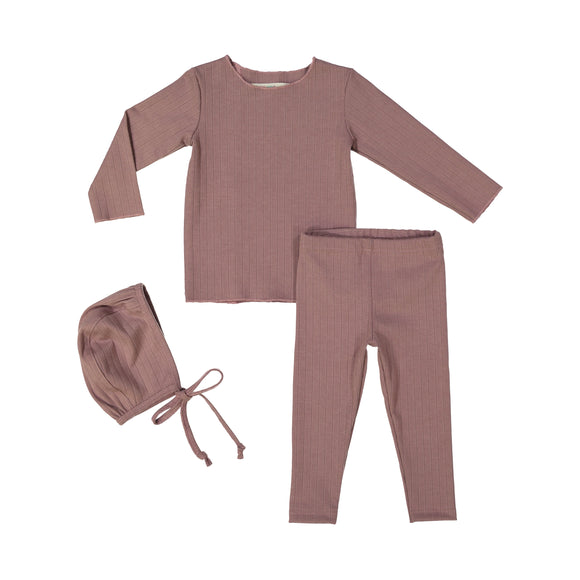RIB BABY Set - Mauve - FINAL SALE
