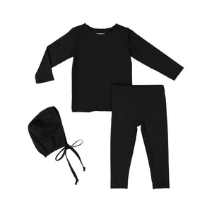 RIB BABY Set - Black - FINAL SALE
