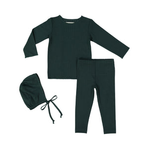 RIB BABY Set - Hunter Green - FINAL SALE