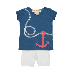 Baby's Blue ANCHOR Print Set