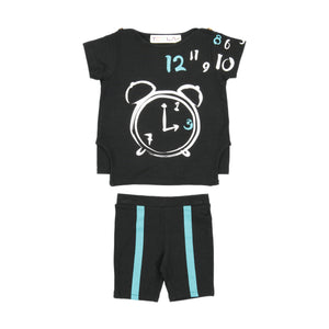 CLOCK Baby Set - Black
