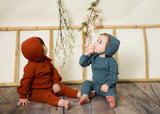BABY Cable Knit Set - PUMPKIN
