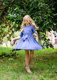 LEAH Fit and Flare Dress - PERIWINKLE - FINAL SALE