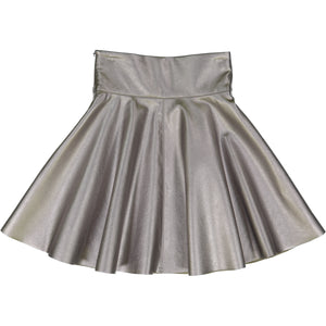 Circle Metallic Skirt - Silver