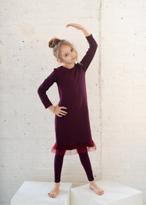 RIB nightgown - Plum - FINAL SALE