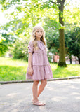 LORA Eyelet Dress - CLAY - FINAL SALE